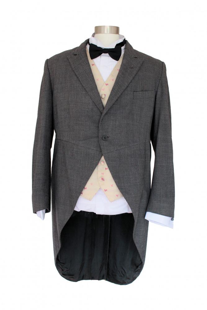 Mens Victorian Edwardian Tailcoat Costume (L/XL) Image