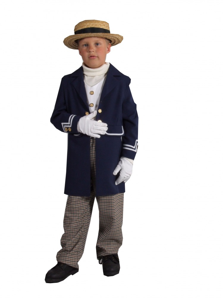 Boys Victorian Fancy Dress Costume Image