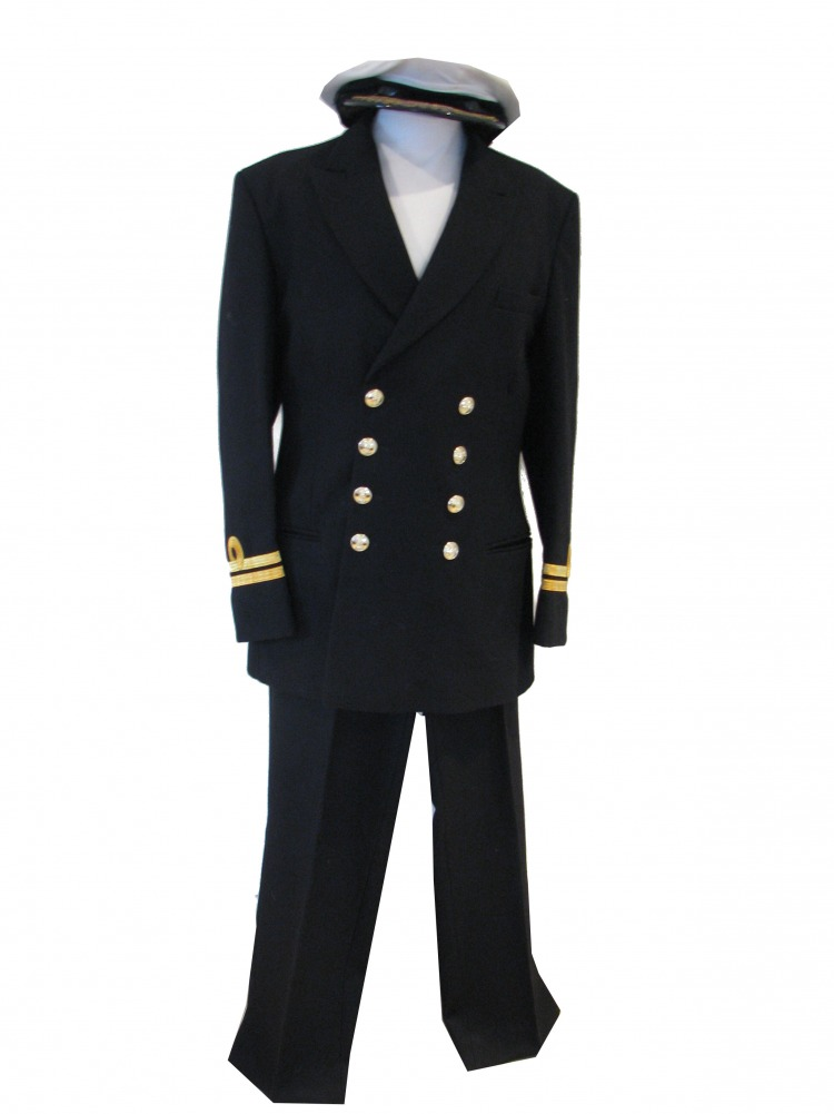 Mens 1940s Wartime Royal Navy Captain Costume WW11 Image