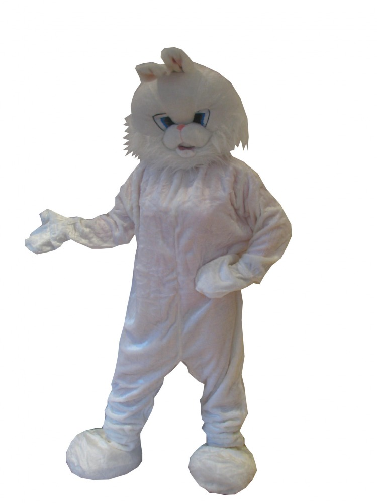 White Rabbit Mascot Fancy Dress Costume Adult Size Image