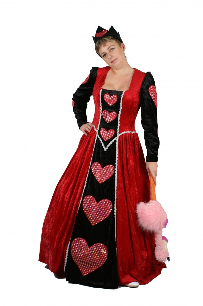Ladies Queen of Hearts Fancy Dress Costume Image