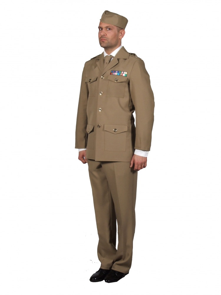 Mens 1940s Wartime WW11 Uniform Fancy Dress Costume (XL) Image