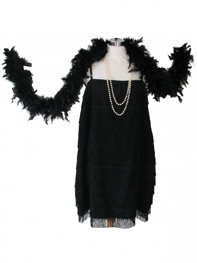 Ladies 1920s 1930s Flapper Costume Size 18 - 20 Image