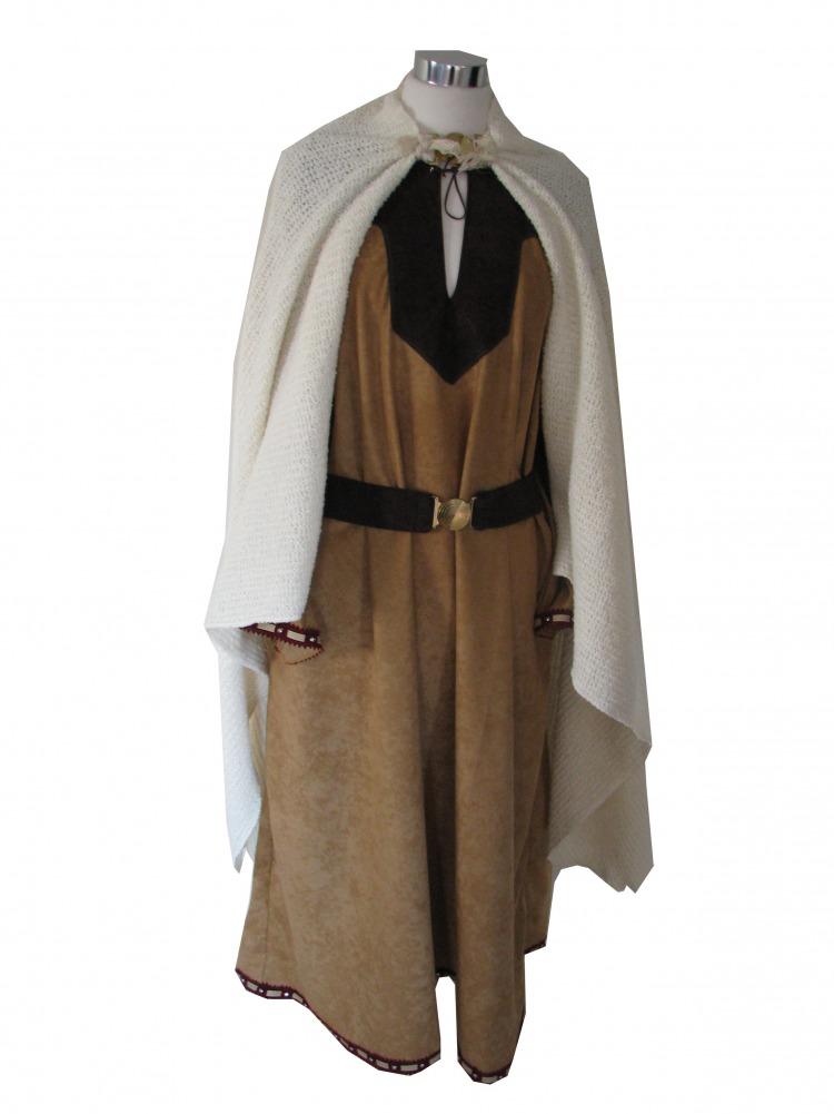 Ladies Saxon Viking Fancy Dress Costume Image