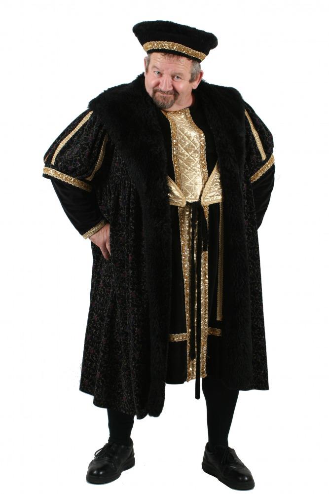 Mens Henry V111 Medieval Tudor Costume Image