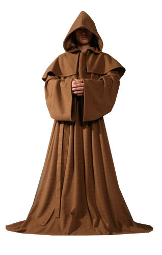Mens Medieval Monk Costume Size XXL Image