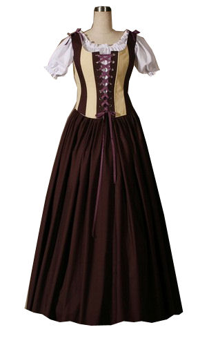 Ladies Medieval Tudor Wench Costume Size 14 - 16 Image