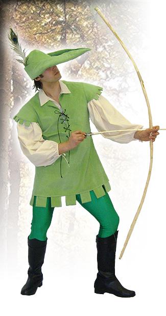 Mens Medieval Tudor Robin Hood Costume Image