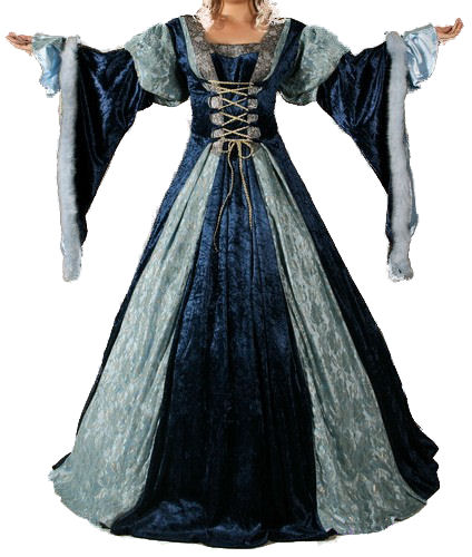 Ladies Medieval Renaissance Costume And Headdress Size 20 - 22 Image