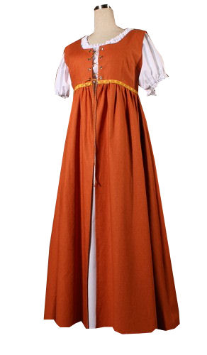 Ladies Medieval Tudor Serving Wench Costume Size 14 Image