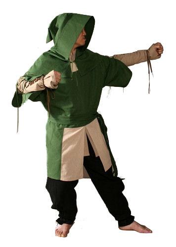 Mens Medieval Tudor Bowman Costume Image