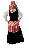 Ladies Deluxe Pirate Costume Size 10 - 12