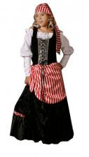 Ladies Deluxe Pirate Costume Size 10 - 12 Image