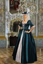 Ladies 18th Century Masked Ball Costume Baroque Size 14 - 16