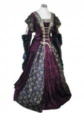 Ladies Medieval Renaissance Costume And Headdress Size 10 - 12 Image