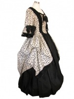 Gown with ruched effect