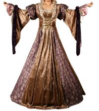 Ladies Deluxe Medieval Renaissance Costume And Headdress