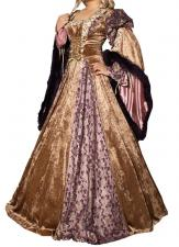 Ladies Deluxe Medieval Renaissance Costume And Headdress Size 12 - 14