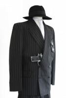 Mens 1920s 1930s Gangster Blues Brothers Costume