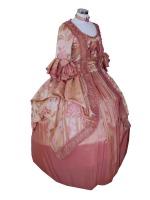 Ladies Pink Marie Antoinette Masked Ball Pompadour Georgian Wig