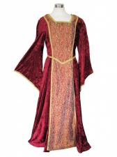 Ladies Petite Shorter Length Medieval Tudor Costume And French Hood Headdress Size 10