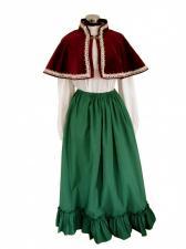 Ladies Victorian Carol Singer School Mistress Costume