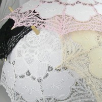 Ladies Cream Lacy Handmade Regency Victorian Parasol