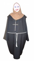 Mens Ladies Medieval Hooped Monk Nun Costume