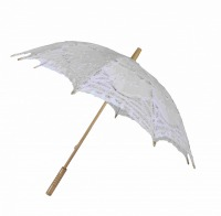 Ladies White Lacy Handmade Regency Victorian Parasol