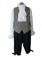 Men's Georgian Regency Edwardian Victorian White Gloves Size Large