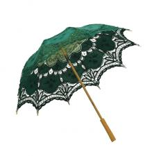 Ladies Green Lacy Handmade Regency Parasol