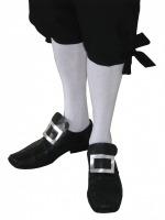 Men's Regency Mr. Darcy Georgian Victorian Edwardian Knee Length White Stockings