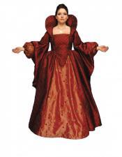 Deluxe Ladies Medieval Tudor Queen Elizabeth 1 Costume