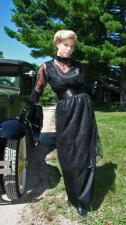 Ladies Edwardian Downton Abbey Titanic Gown And Edwardian Style Hat Size 16 - 18