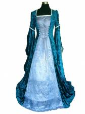 Deluxe ladies Medieval Renaissance Costume And Headdress Size 12 - 14 Image