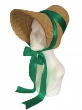 Ladies Jane Austen Straw Poke Bonnet