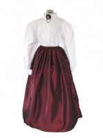 Ladies White Medieval Victorian Three Hooped Underskirt