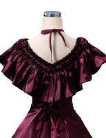 Ladies Black 18th Century Marie Antoinette Masked Ball Handmade Cotton Lace Fan