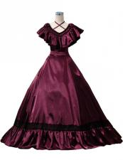 Ladies Victorian Edwardian Southern Belle Evening Gown Image