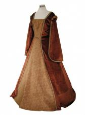 Ladies Medieval Tudor Costume And Headdress Size 16 - 18