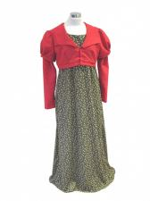 Ladies 19th Century Jane Austen Regency Day Costume Size 12 - 14