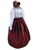 Ladies Black Medieval Georgian Victorian Three Tiered Underskirt (S/M)