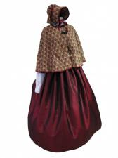 Ladies Victorian Carol Singer School Mistress Costume Size 14 - 16