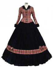 Ladies Victorian Dickensian Carol Singer School Mistress Day Costume Size 8 - 10