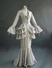 Ladies Edwardian Downton Abbey Titanic Gown And Edwardian Hat Size 12 - 14