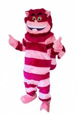 Men's Ladies' Alice In Wonderland Cheshire Cat Mascot Padded Deluxe Costume Image