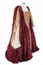 Ladies Deluxe Tudor Elizabethan Queen Elizabeth 1 Theatrical Costume Size 10 - 12
