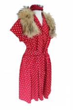 Ladies 1940's Style Tea Dress Wartime Goodwood Costume Size 16 - 18
