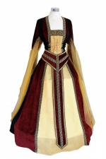 Ladies Medieval Tudor Costume And Headdress Size 22 - 26