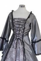 Ladies Black Medieval Georgian Victorian Three Tiered Underskirt